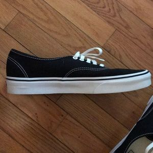 Vans Shoes - Vans Authentic Black/White Mens 10.5